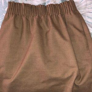 JCrew Paperbag Wool Skirt in Camel